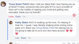 GWGW reader comment Tonya Nolan Petrill