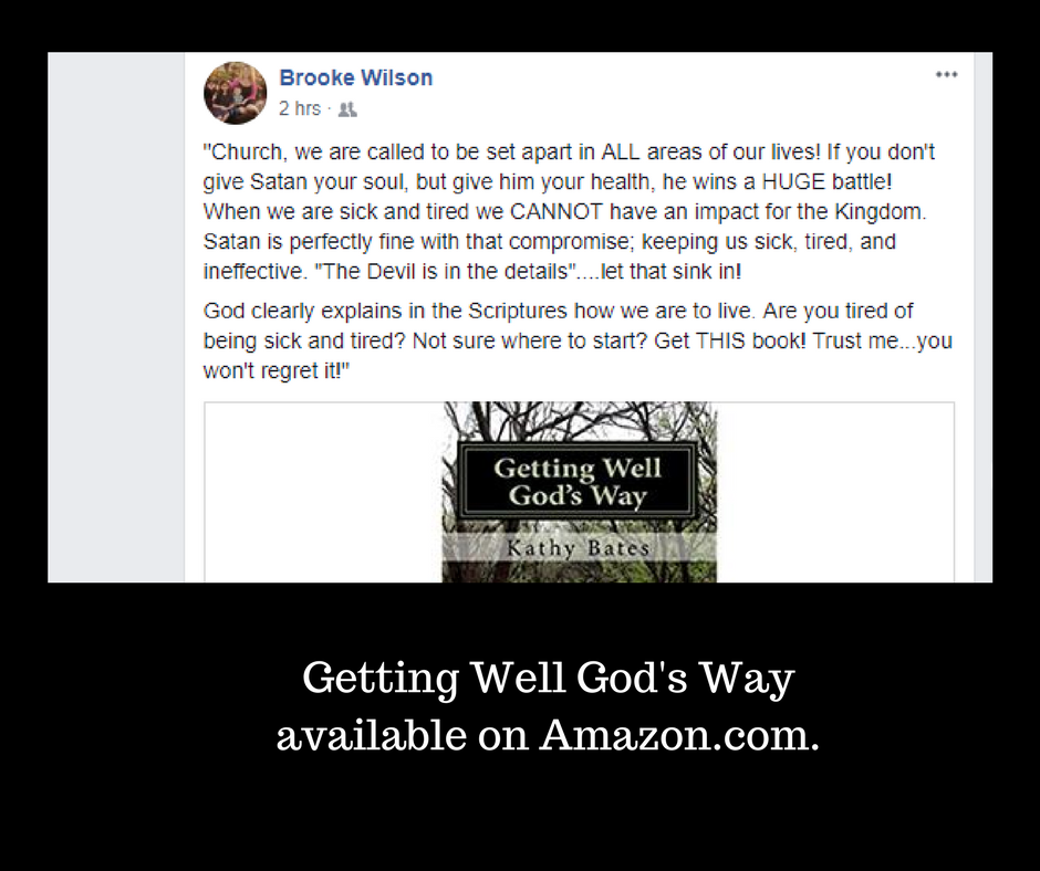 Getting Well God's Wayavailable on Amazon.com.