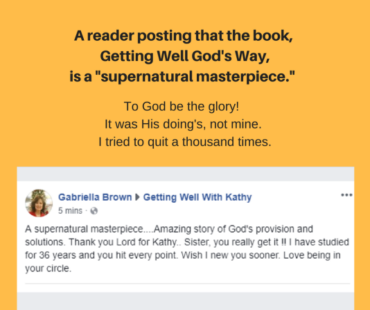 A reader posting about the book, Getting Well God's Way